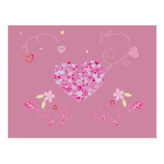 Floral heart for Valentine - Postcard