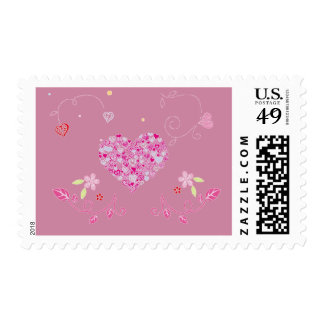 Floral heart for Valentine - Stamp