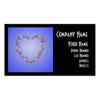 Floral Heart Garland Double-Sided Standard Business Cards (Pack Of 100)