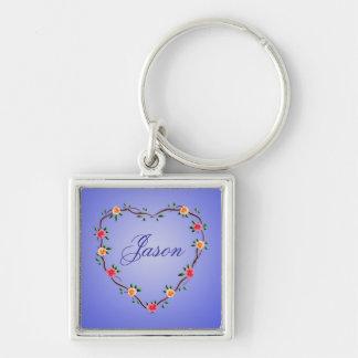 Floral Heart Garland Keychain