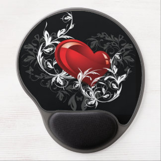 Floral Heart Gel Mouse Pad