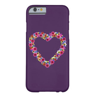 Floral Heart in Purple Barely There iPhone 6 Case
