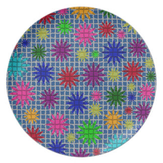 Floral Heart Mosaic Plate