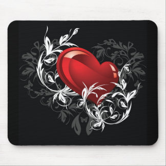 Floral Heart Mouse Pad