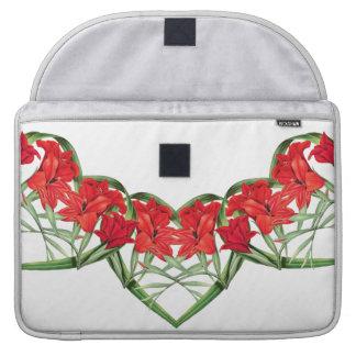 Floral Heart of Flowers Rickshaw Flap Sleeve Sleeves For MacBooks