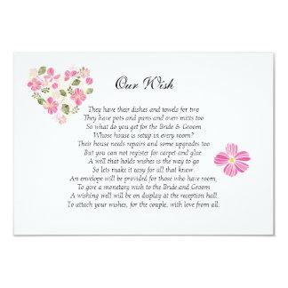 Floral Heart 'Our Wish' Wedding Custom Invitation