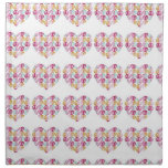 Floral Heart Printed Napkin