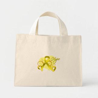 Floral Heart Ribbon - Suicide Prevention Canvas Bag
