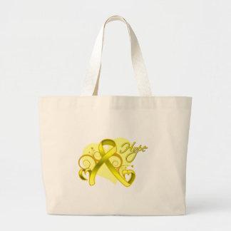 Floral Heart Ribbon - Suicide Prevention Tote Bag