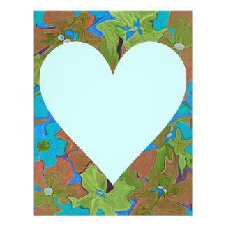 Floral heart shape arrangements for valentines flyer