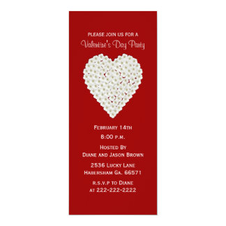 Floral Heart Valentine's Day Party Invitation