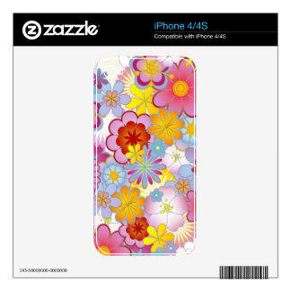 Floral heart with butterflies decals for the iPhone 4S