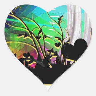 Floral Hearts Blossom Vines City Destiny Gardens Heart Sticker