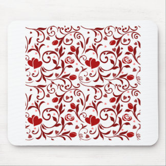 Floral Hearts design Mouse Pad