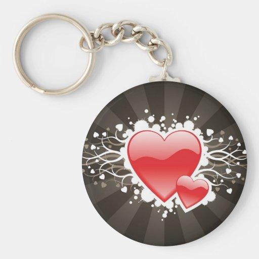 Floral Hearts Keychain