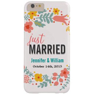 Floral hermoso apenas casado casando la funda de iPhone 6 plus barely there