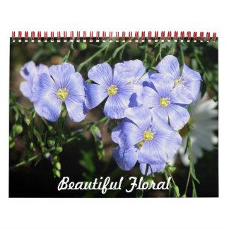 Floral hermoso calendarios de pared