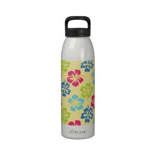 Floral Hibiscus Hawaiian Drinking Bottles