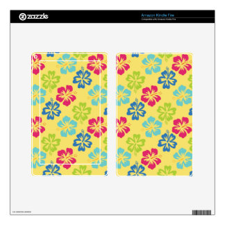 Floral Hibiscus Hawaiian Kindle Fire Skins