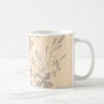 flower, flowers, floral, flora, art, design, garden, nature, subtle, pattern, gift, gifts, peach, orange, mug, mugs, Mug with custom graphic design