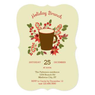 Floral Holiday Brunch Invitation