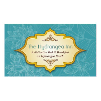 Floral Hospitality Turquoise Business Card