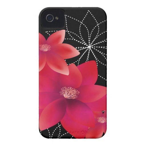 floral hot pink iPhone 4 cover