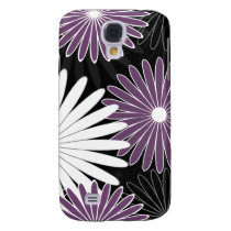 floral hot violet and purple samsung galaxy s4 cover