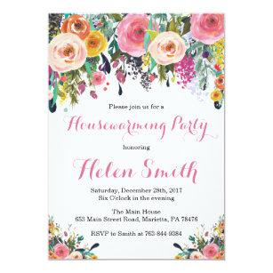 Housewarming party invitations zazzle floral housewarming party invitation card stopboris Choice Image
