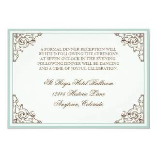 Floral Hydrangea Flower Seashell Swirls Beach 3.5x5 Paper Invitation Card