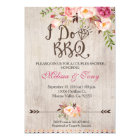 Floral I Do BBQ Barbecue Shower Card