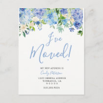 Floral I Have Moved | Moving Announcement Postcard