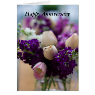 Floral I Love You Anniversary Card