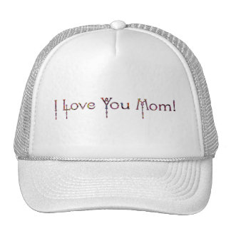 Floral I Love You Mom Trucker Hat