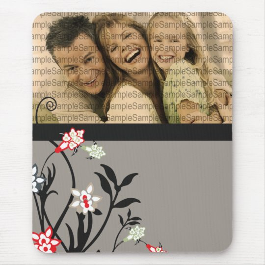Floral Illustration_5 with PHOTO template Mousepad