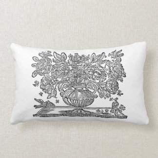 Floral Illustration featuring griffins Lumbar Pillow