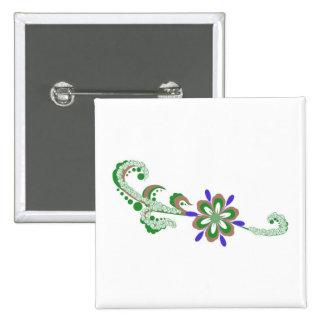 Floral illustration pins