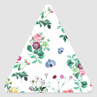 Floral Image Fash Triangle Sticker