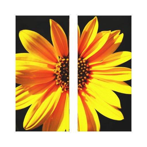 floral impresión en lona