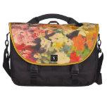 Floral impresionista----La bolsa de mensajero Bolsas Para Portatil