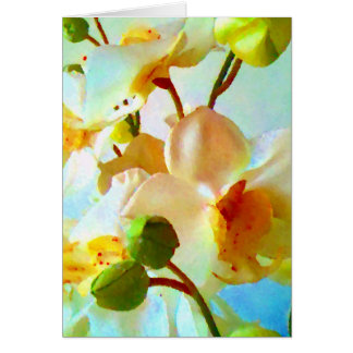 Floral Impression Painterly Art Photo Blank Inside Card