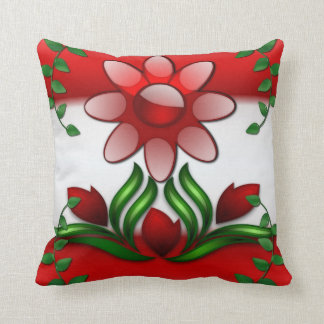 Floral Impressions Art Deco Throw Pillow