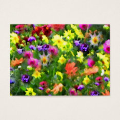 Floral Impressions Atc Business Card at Zazzle
