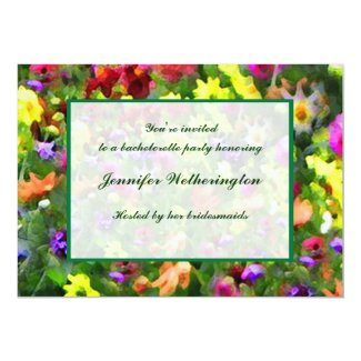 Floral Impressions Bachelorette Party 5x7 Paper Invitation Card