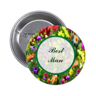Floral Impressions Best Man Pin