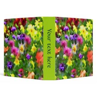Floral Impressions zazzle_binder
