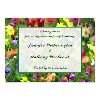 Floral Impressions Engagement Party Card