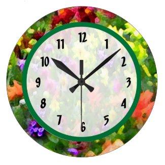 Floral Impressions Large Clock