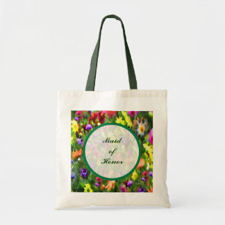 Floral Impressions Maid of Honor Tote Bag