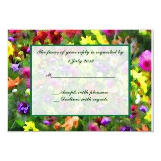Floral Impressions RSVP 3.5x5 Paper Invitation Card
